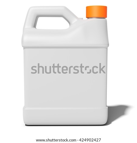 3d blank container, canister, jug on white background 3D illustration - stock photo