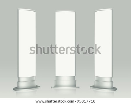3D blank lightbox wrap advertising on a white background. Isolated - stock photo