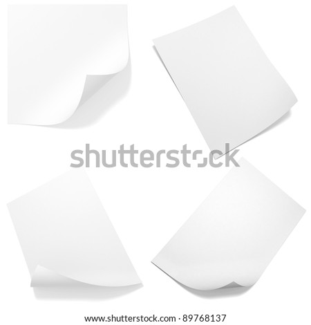 3d blank paper sheet pack - stock photo