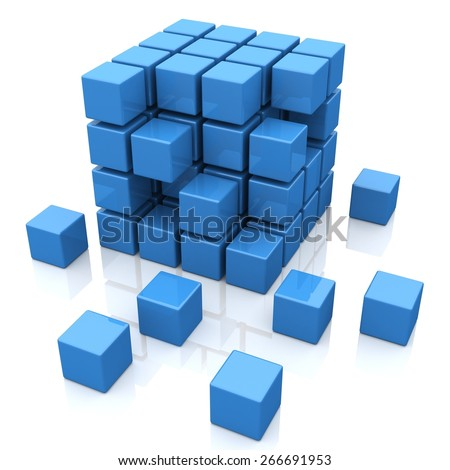 3D. Block, Cube, Block. - stock photo