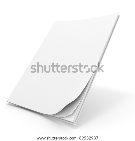 3d book with blank cover - stock photo