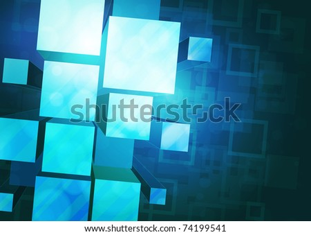 3d bright abstract background - stock photo