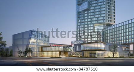 3d building - stock photo