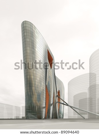3d building - stock photo