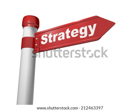 3d Business concept: sign Strategy  - stock photo
