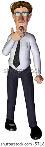 3d businessman worried - stock photo