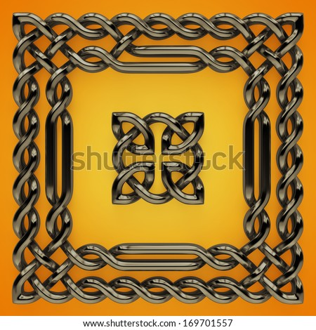 3d Celtic twisted design elements - stock photo