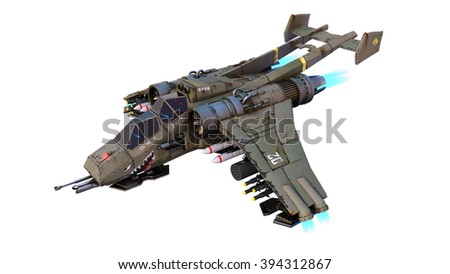 3D CG rendering of a fighter - stock photo