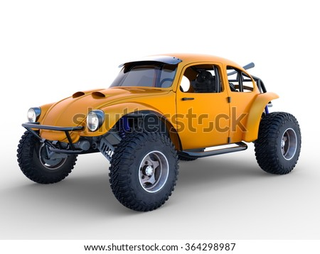 3D CG rendering of buggy car - stock photo