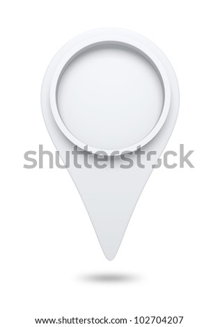 3D check in icon website ,design element. isolated - stock photo