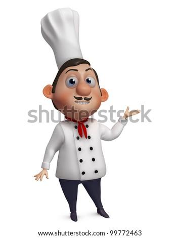 3d chef - stock photo