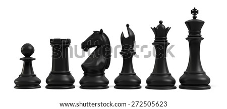 3D. Chess, Chess Piece, Chess Pawn. - stock photo