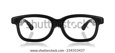 3D cinema glasses isolated on a white background. - stock photo