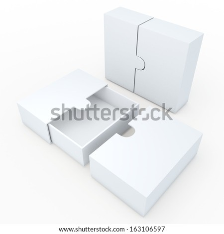 3d clean white container for garments products, leather, clothes, or accessories blank template and wedge option in isolated background with work paths, clipping paths included  - stock photo