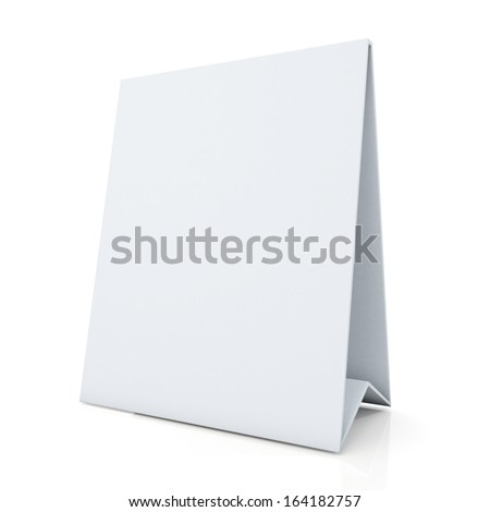 3d clean white papers carton desk display in isolated background with work paths, clipping paths included  - stock photo