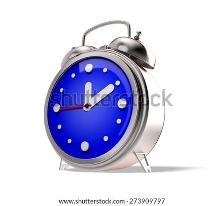 3D. Clock, Alarm Clock, Red. - stock photo