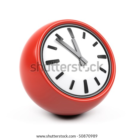 3d clock on a white background. - stock photo