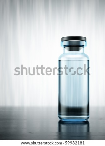 3d close up of a vial on beautiful background - stock photo