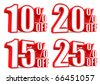 3d collection word sale 10 15 20 25 percent - stock photo