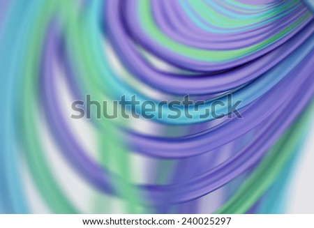 3D Colorful wavy lines abstract background - stock photo