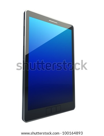 3D computer, digital Tablet pc, isolated on white background High resolution - stock photo
