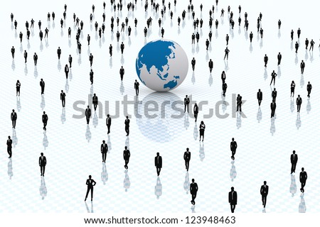 3D. Concept regarding business and world globalized. - stock photo