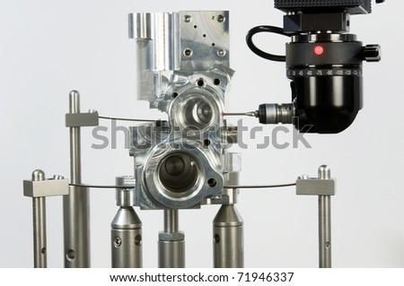 3-D-coordinate-measuring - stock photo