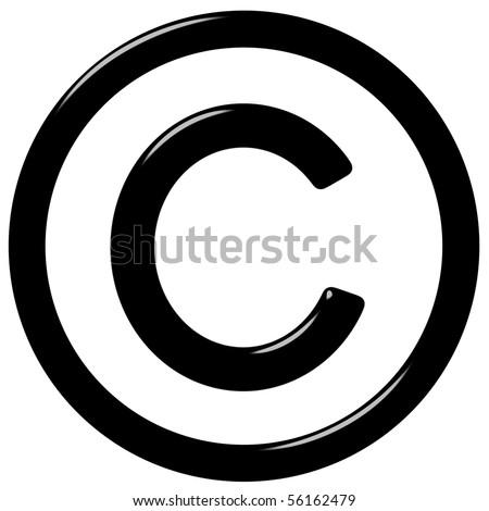 3d copyright symbol - stock photo
