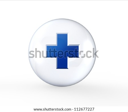 3d crystal medical concept - stock photo