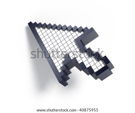 3d cursor on white background - stock photo