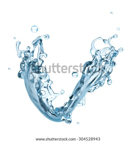 3d 3d abstract water splashing clip art, isolated liquid design element abstract water splashing clip art, isolated liquid design element - stock photo