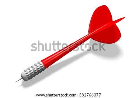 3D darts concept - arrow. - stock photo