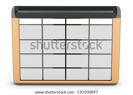 3d database table on white background - stock photo