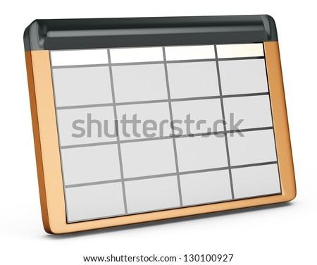 3d database table on white background - stock photo
