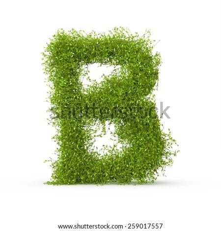 3d decorative nature letter - stock photo