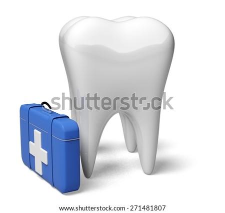 3D. Dental Hygiene, Human Teeth, Symbol. - stock photo