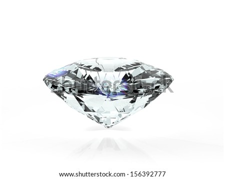 3d diamond in a white background - stock photo
