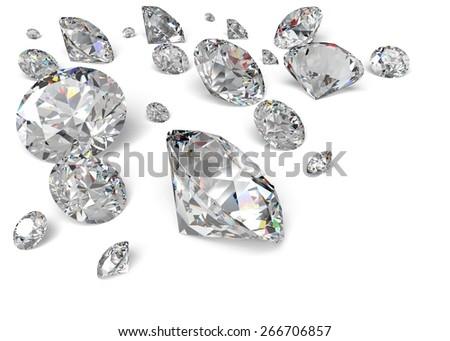 3D. Diamond, Jewelry, Gem. - stock photo