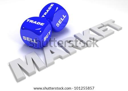3d dices business concept - stock photo