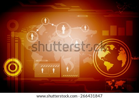 2D Digital Abstract Business Networking background - stock photo