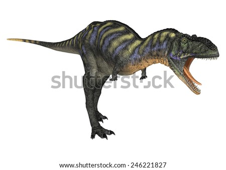 3D digital render of a dinosaur Aucasaurus isolated on white background - stock photo