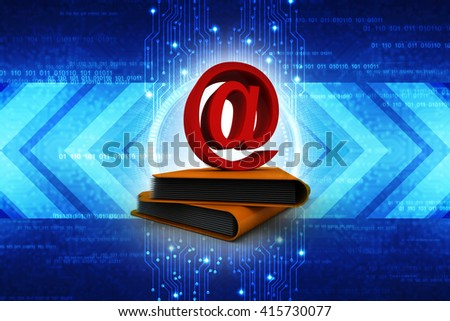3d e-mail in Folder - stock photo