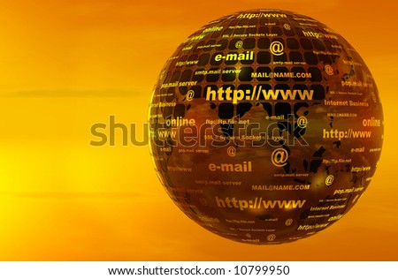 3d earth witn text - stock photo