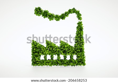 3d Ecology industry symbol - stock photo