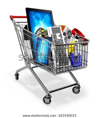 3D. Electrical Equipment, Electronics Industry, Retail. - stock photo