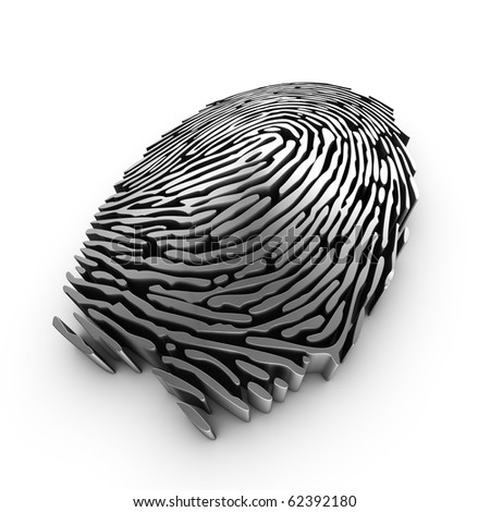 3d fingerprint representation for authentication or recognition - stock photo