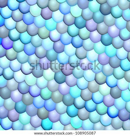 3d fish scale blue purple abstract pattern surface - stock photo