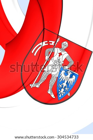 3D Flag of Bamberg City, Germany. Close Up.    - stock photo