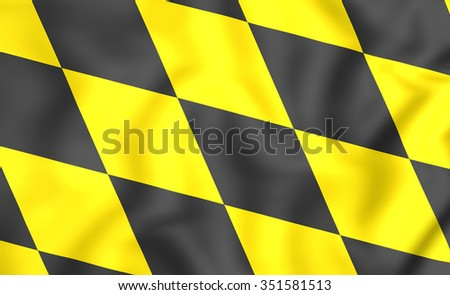 3D Flag of Munchen (Bavaria), Germany. Close Up.    - stock photo