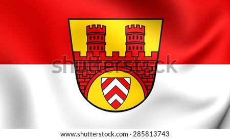 3D Flag of the Bielefeld, Germany. Close Up.    - stock photo